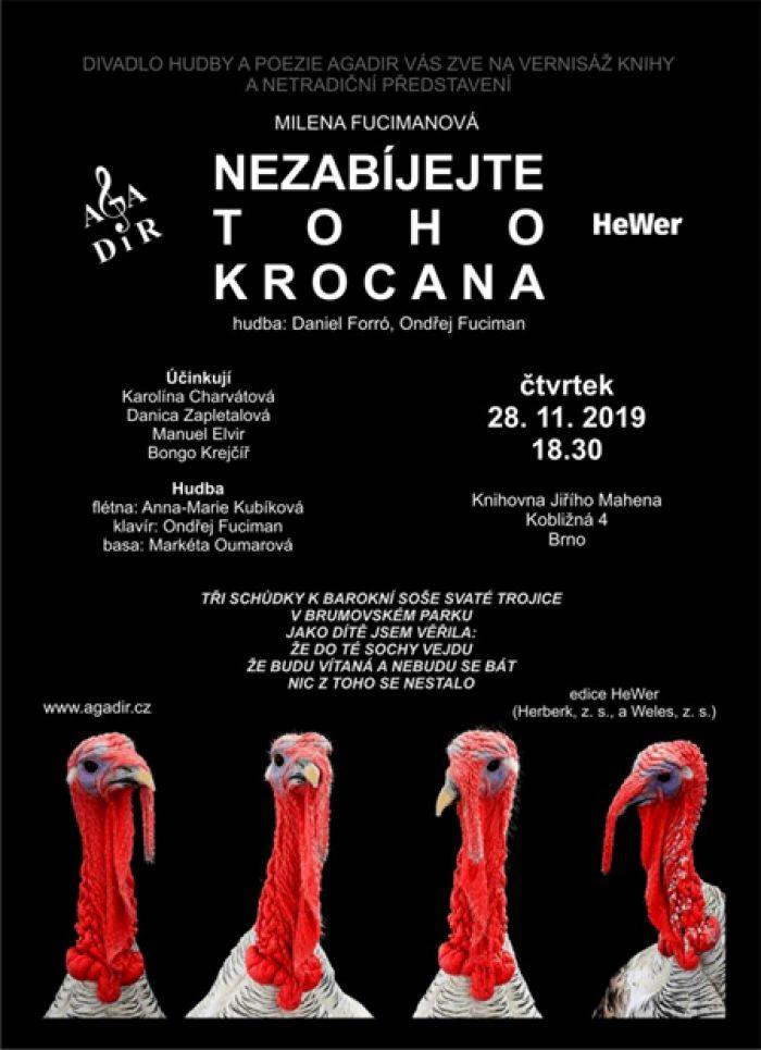 28.11.2019 - Milena Fucimanová: Nezabíjejte toho krocana - Brno