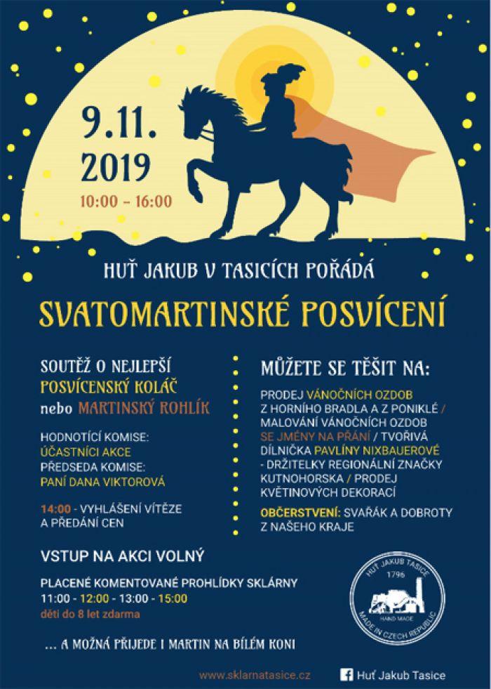 09.11.2019 - Svatomartinské posvícení ve sklárně Huť Jakub Tasice
