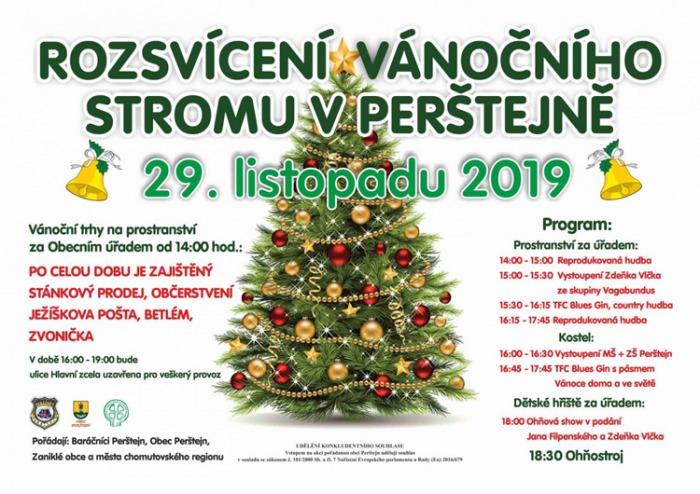 Rozsvícení vánočního stromu - Perštejn
