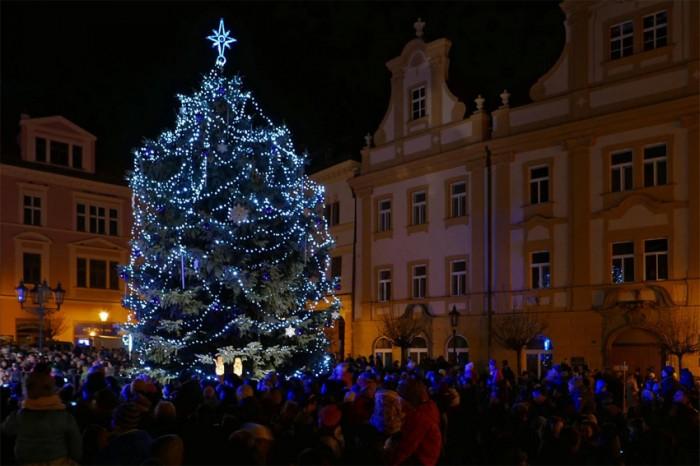 Rozsvícení vánočního stromu - Chrudim