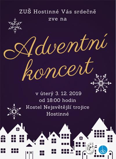 03.12.2019 - Adventní koncert ZUŠ - Hostinné