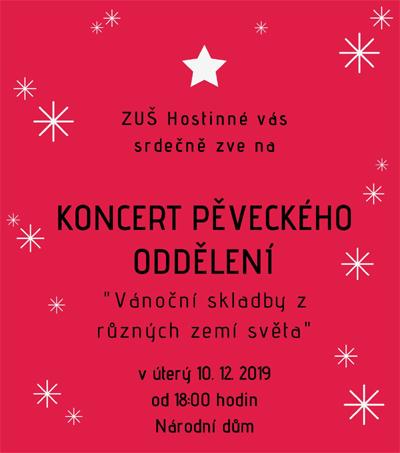 10.12.2019 - Vánoční skladby z různých zemí světa - Koncert ZUŠ Hostinné