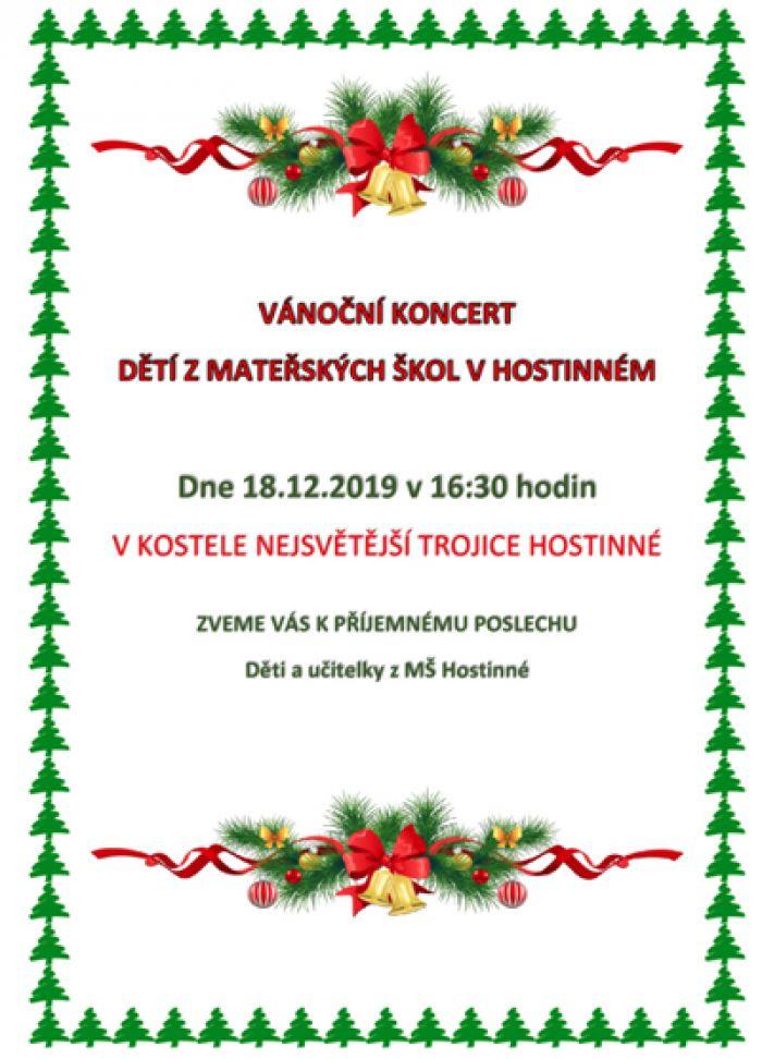 18.12.2019 - Vánoční koncert dětí z Mateřských škol - Hostinné