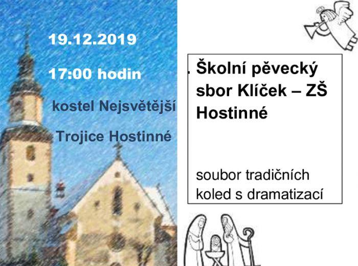 Koncert školního pěveckého sboru Klíček - Hostinné