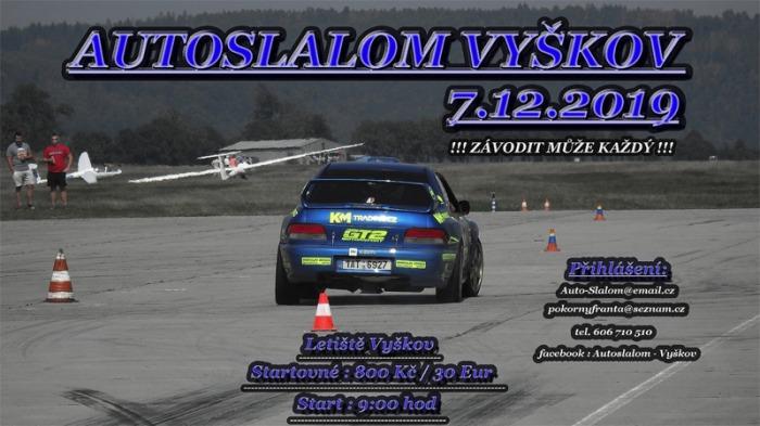 07.12.2019 - Autoslalom Vyškov