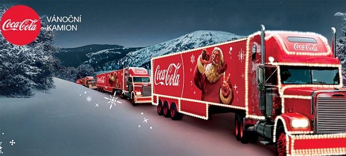 Coca-Cola vánoční kamion v Olomouci