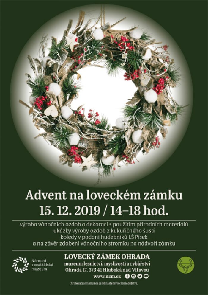Advent na loveckém zámku - Hluboká nad Vltavou