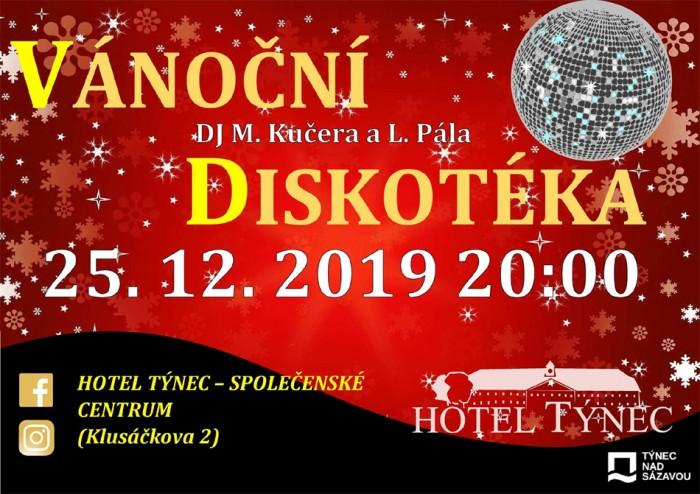 25.12.2019 - Vánoční diskotéka - Týnec nad Sázavou