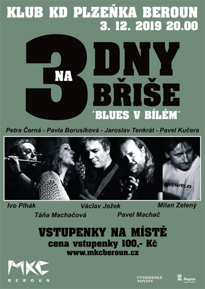 03.12.2019 - 3DB aneb TŘI DNY NA BŘIŠE - Koncert / Beroun