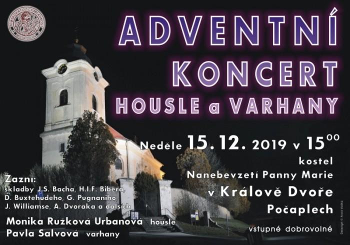 Adventní koncert housle a varhany - Králův Dvůr