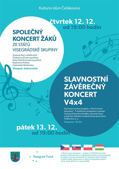 13.12.2019 - Slavnostní závěrečný koncert V4x4  -  Čelákovice