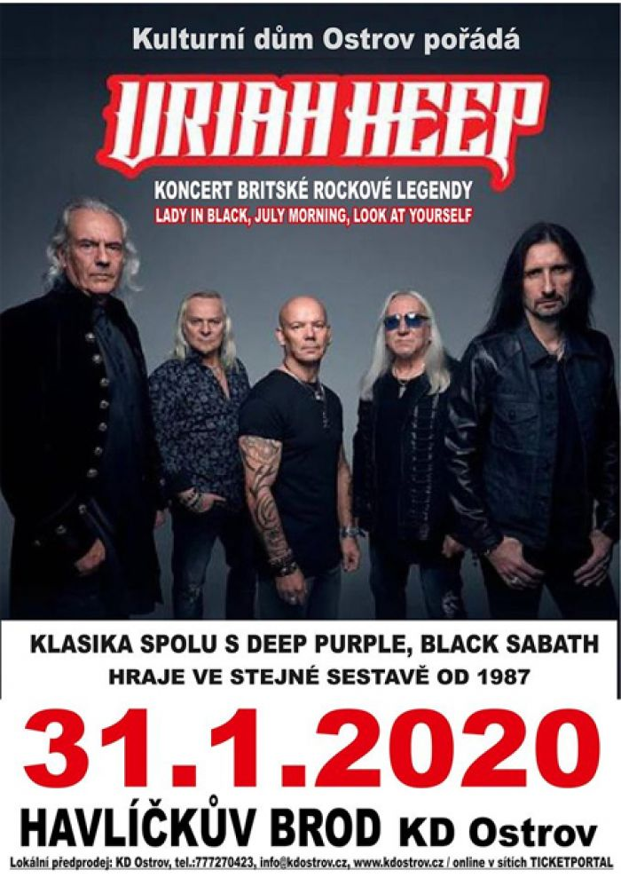 31.01.2020 - Uriah Heep - Koncert / Havlíčkův Brod