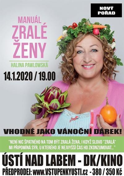 14.01.2020 - Halina Pawlowská: Manuál zralé ženy / Ústí nad Labem