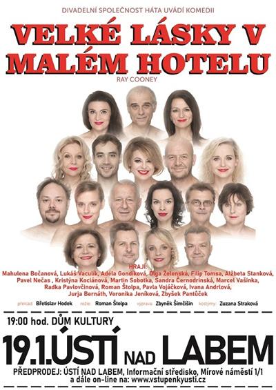 19.01.2020 - Velké lásky v malém hotelu - Divadlo / Ústí nad Labem