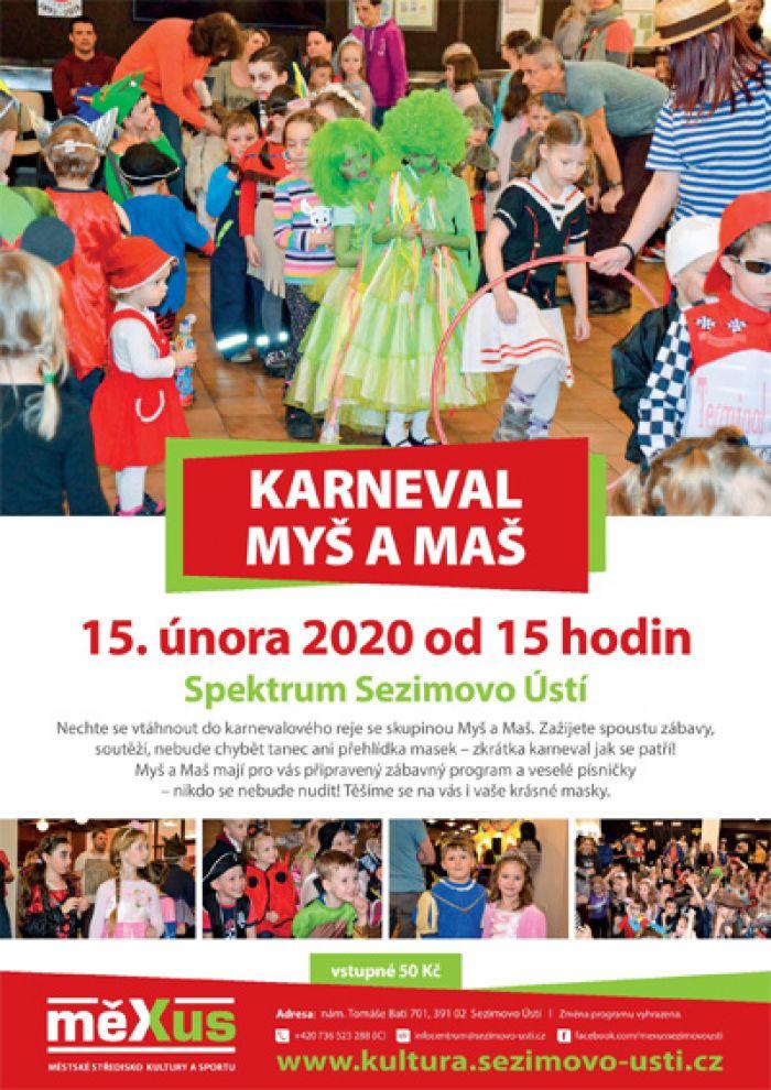 15.02.2020 - Karneval Myš a Maš - Sezimovo Ústí
