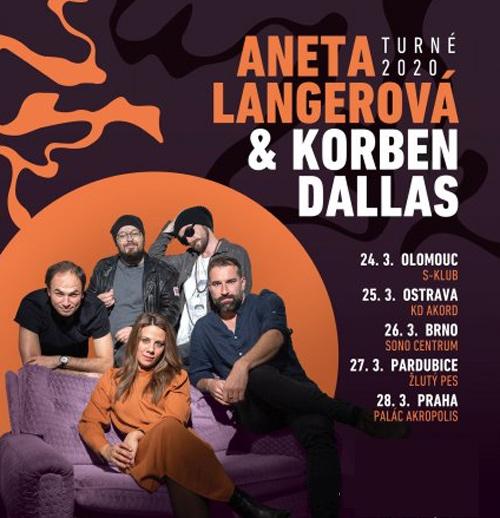 27.03.2020 - Aneta Langerová & Korben Dallas - Turné 2020 / Pardubice