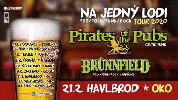 21.02.2020 - Pirates of the Pubs & Brünnfield - Tour 2020 / Havlíčkův Brod