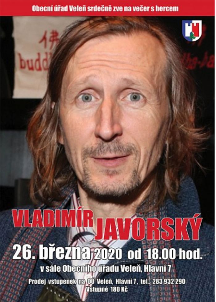 26.03.2020 - Vladímír Javorský  - Večer s hercem / Veleň