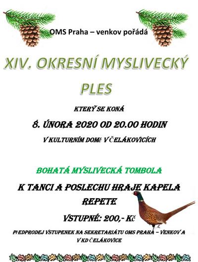 Ples Okresních myslivců - Čelákovice