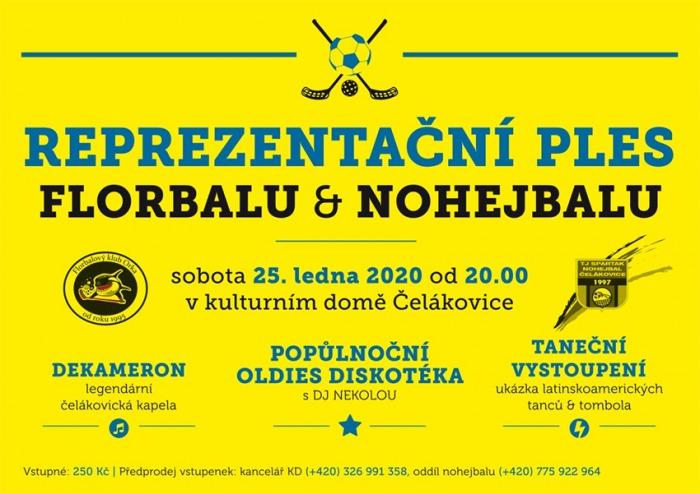Reprezentační ples florbalu a nohejbalu - Čelákovice