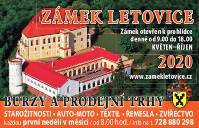 02.08.2020 - Burza starožitností a sběratelských kuriozit - Letovice