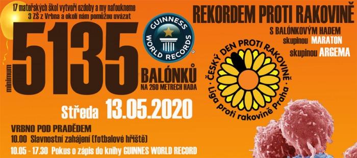 13.05.2020 - Rekordem proti rakovině - Vrbno pod Pradědem