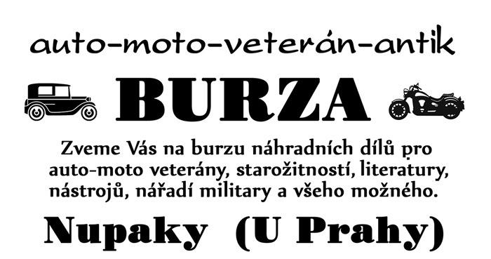 22.08.2020 - Auto, moto, veterán burza - Nupaky u Prahy