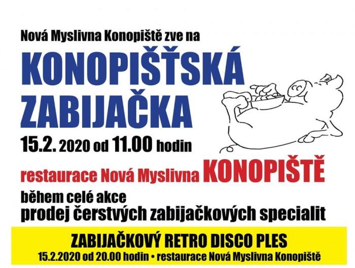 15.02.2020 - Konopištská zabijačka a retro ples