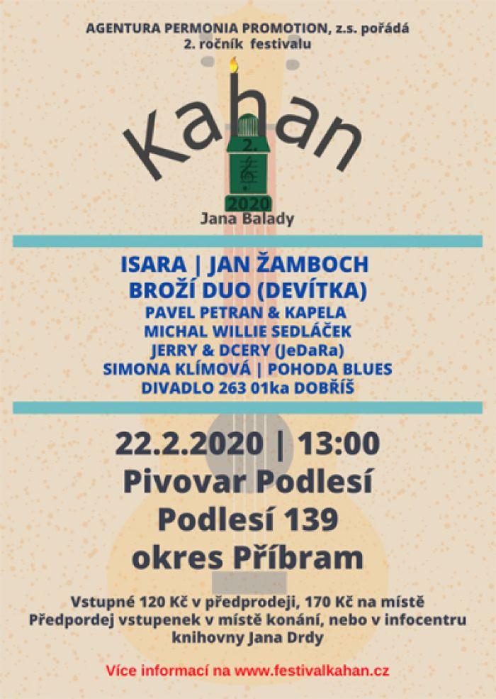 Kahan Jana Balady 2020 - Festival hudby a divadla / Podlesí