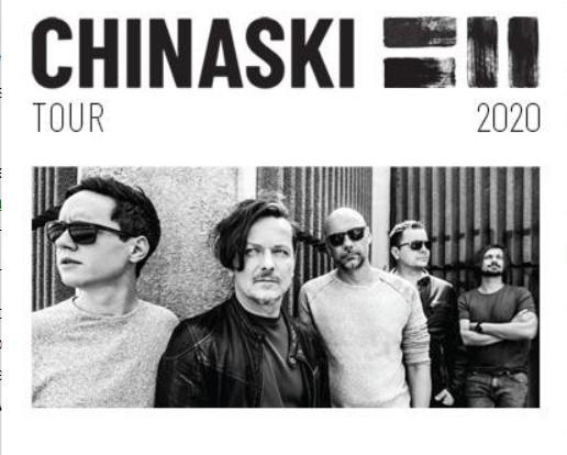 CHINASKI tour 2020 - Ostrava