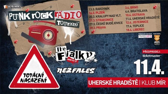 11.04.2020 - Totální nasazení, The Fialky, Nežfaleš - Tour 2020 / Uherské Hradiště