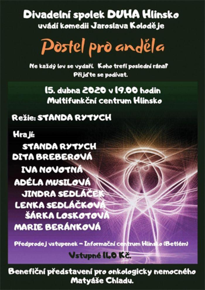 15.04.2020 - Postel pro anděla - Benefiční představení / Hlinsko