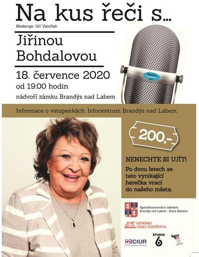 18.07.2020 - Na kus řeči s... Jiřinou Bohdalovou / Brandýs nad Labem