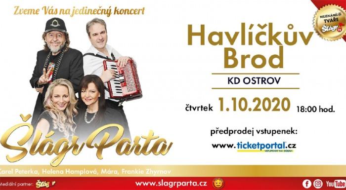 01.10.2020 - ŠlágrParta -  Koncert / Havlíčkův Brod