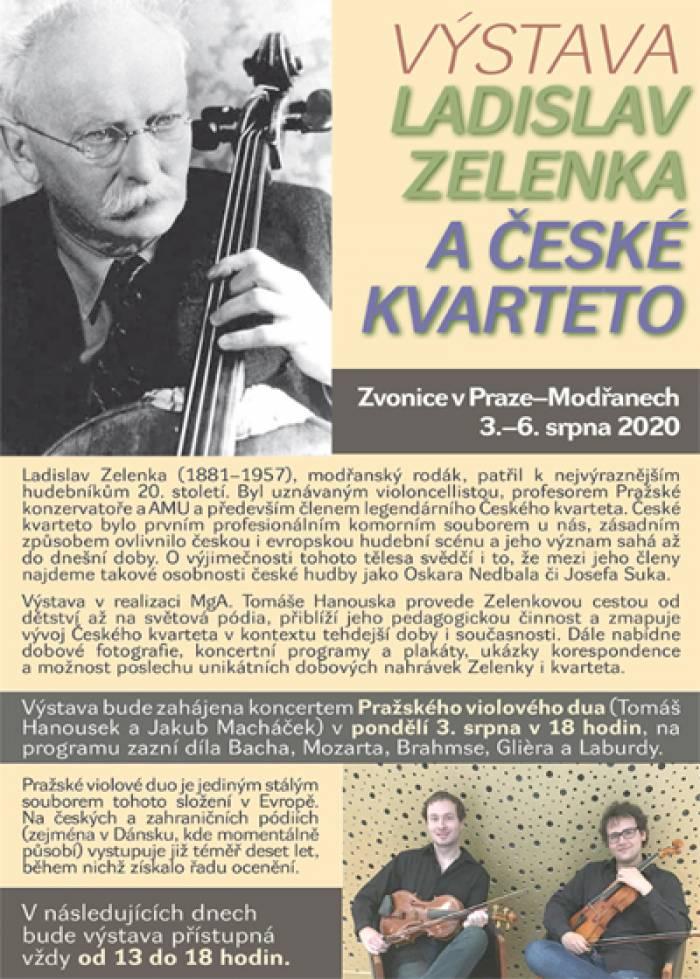 03.08.2020 - Ladislav Zelenka a České kvarteto - Výstava / Praha