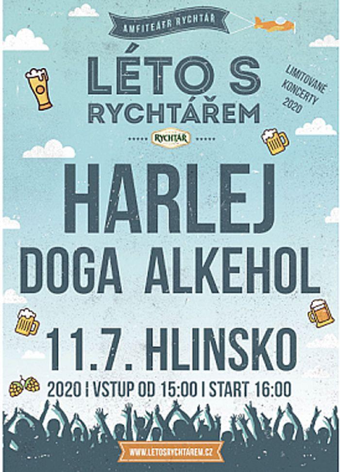 11.07.2020 - Harlej, Alkehol, Doga - Koncert / Hlinsko