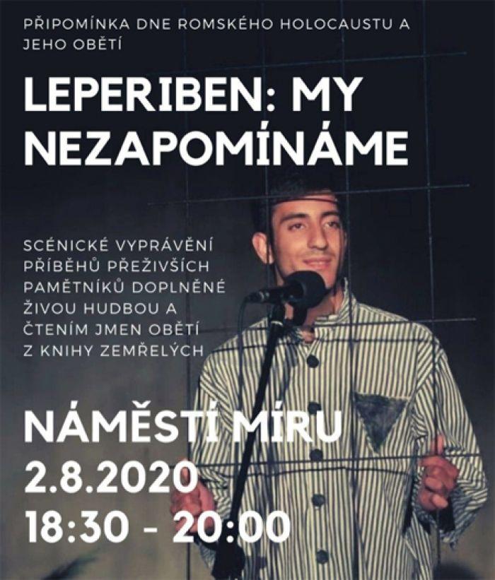 02.08.2020 - Leperiben - vzpomínková akce na oběti romského holocaustu / Praha