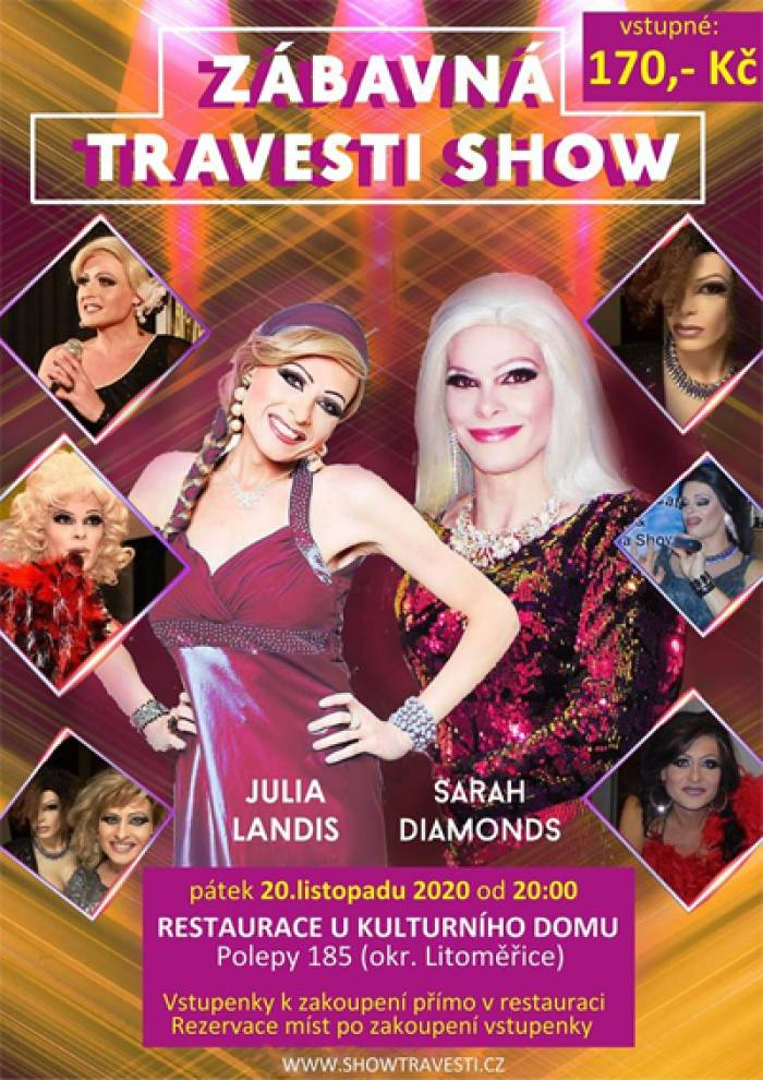 Zábavná Travesti Show - Polepy