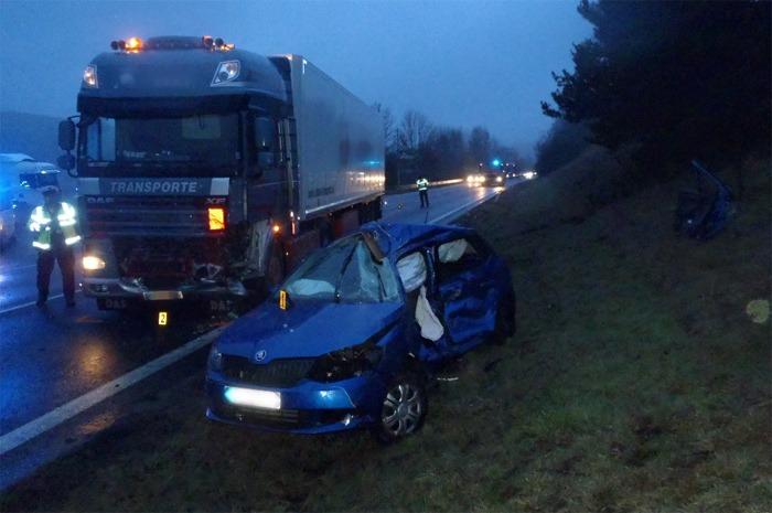 Dopravní nehoda u Horní Folmavy