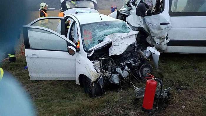 Těžká dopravní nehoda v Koclířově