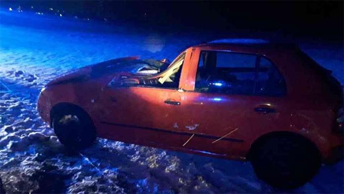 U Hadiny narazila řidička s osobním vozidlem do stromu