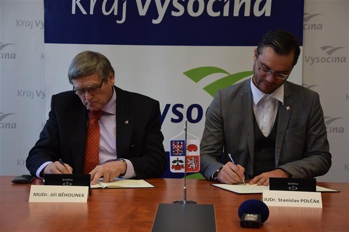 Kraj Vysočina a Sdružení místních samospráv ČR uzavřely memorandum o krajské spolupráci