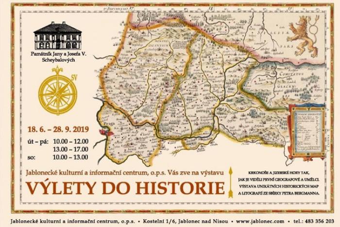 Dobové mapy v Jablonci nad Nisou zvou na výlet do minulosti