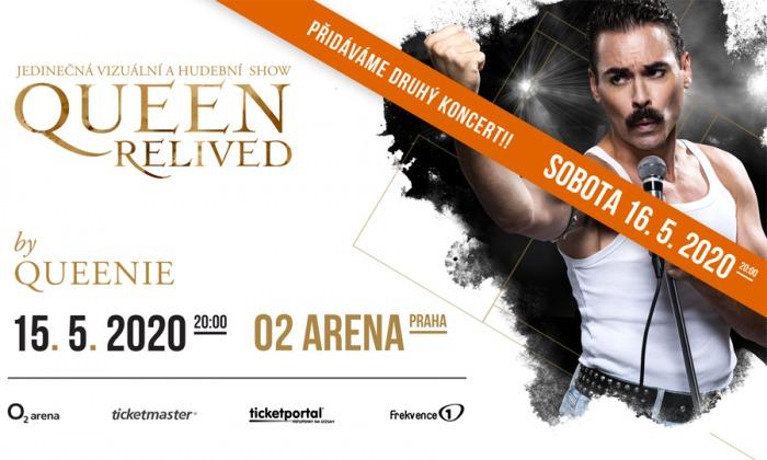 Show Queen Relived 2020 by Queenie má obrovský úspěch, organizátoři přidávají druhý koncert v O2 areně