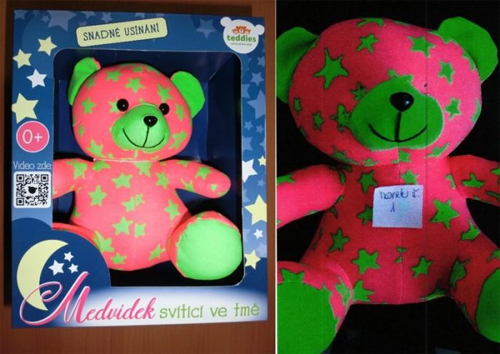 Hračka svítící medvídek může být pro nejmenší děti nebezpečná, ČOI ji stahuje z trhu
