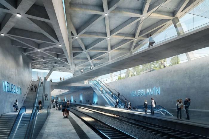 Výstava představí architektonické návrhy stanice Praha-Veleslavín