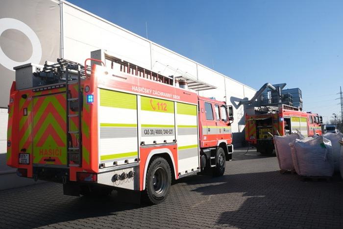 Požár tiskařského stroje v Opavě