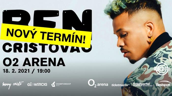 Koncert Bena Cristovao v pražské O2 areně se přesouvá  na únor 2021