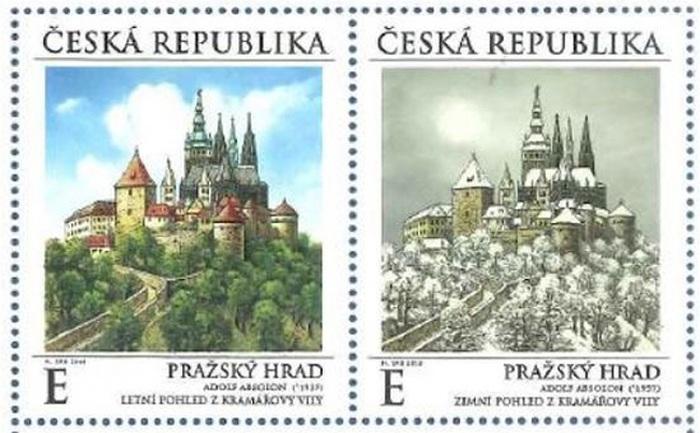 Na nejkrásnější známce roku 2019 je Pražský hrad