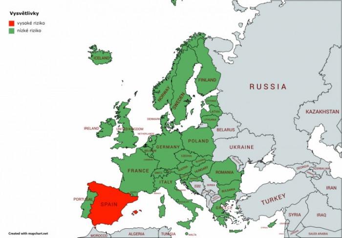 Rumunsko bude 14. září zpět na seznamu zemí s nízkým rizikem nákazy